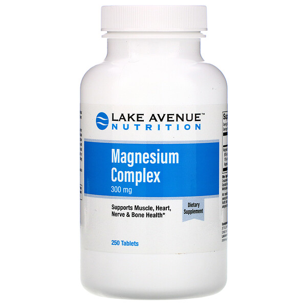 Lake Avenue Nutrition, Magnesium Complex, 300 mg, 250 Tablets
