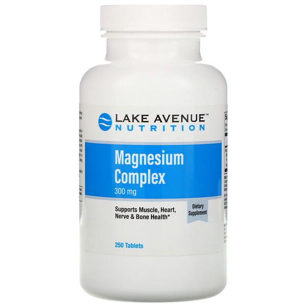 Lake Avenue Nutrition, Complejo de magnesio, 300mg, 250comprimidos