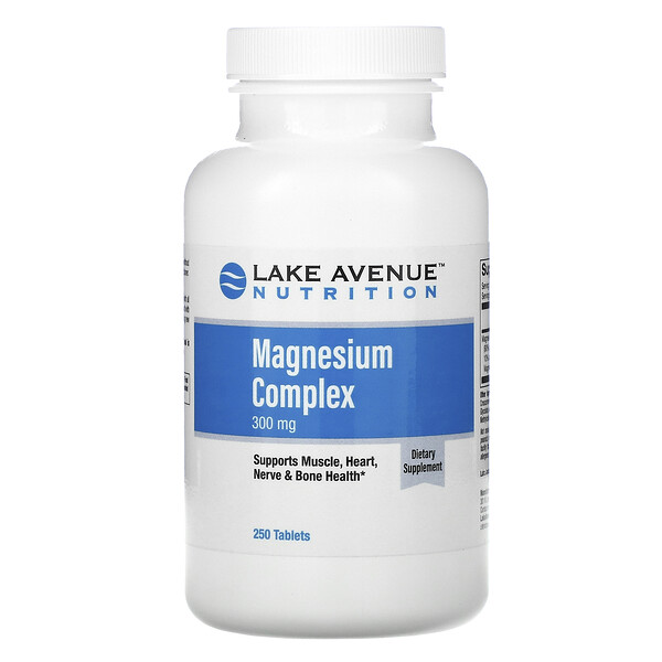 Magnesium Complex, 300 mg, 250 Tablets