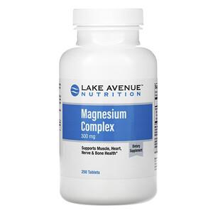Lake Avenue Nutrition, Magnesium Complex, 300 mg, 250 Tablets отзывы покупателей
