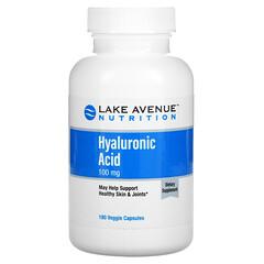 Lake Avenue Nutrition, Asam Hialuronat, 100 mg, 180 Kapsul Nabati