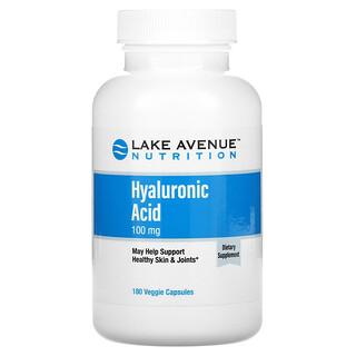 Lake Avenue Nutrition, 透明質酸,100 毫克,180 粒素食膠囊