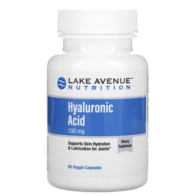 Lake Avenue Nutrition гиалуроновая кислота, 100мг, 60растительных капсул