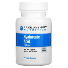 Lake Avenue Nutrition, 透明质酸,100 毫克,60 粒素食胶囊
