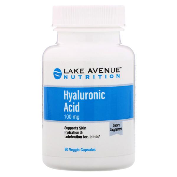 Acide hyaluronique, 100mg, 60capsules végétariennes