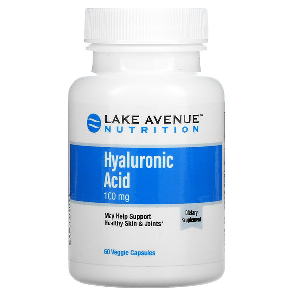 Lake Avenue Nutrition, Hyaluronic Acid, 100 mg, 60 Veggie Capsules