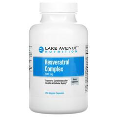 Lake Avenue Nutrition, مركب ريسفيراترول، 500 ملجم، 250 كبسولة نباتية