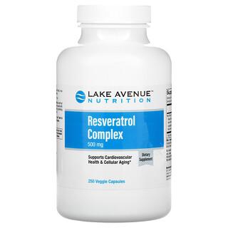 Lake Avenue Nutrition, 白藜芦醇复合素食胶囊,500 毫克,250 粒