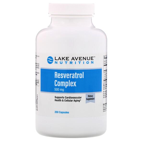 Resveratrol Complex, 500 mg, 250  Capsules