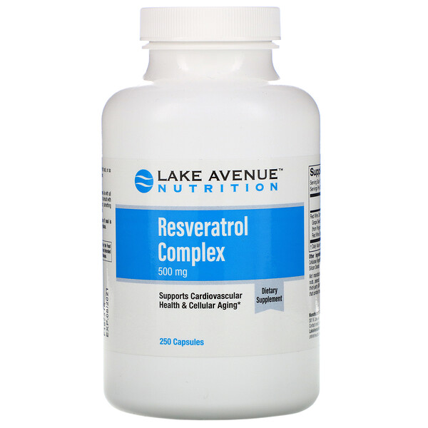 Lake Avenue Nutrition, Resveratrol Complex, 500 mg, 250  Capsules