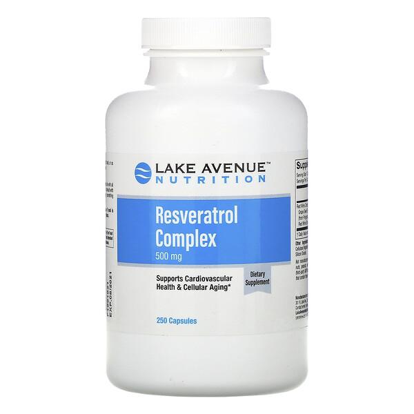 Lake Avenue Nutrition, Resveratrol Complex, 500 mg, 250  Capsules