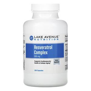 Lake Avenue Nutrition, Resveratrol Complex, 500 mg, 250  Capsules отзывы покупателей