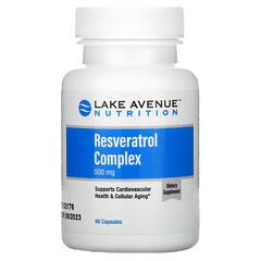 Lake Avenue Nutrition, مركب ريسفيراترول، 500 ملجم، 60 كبسولة