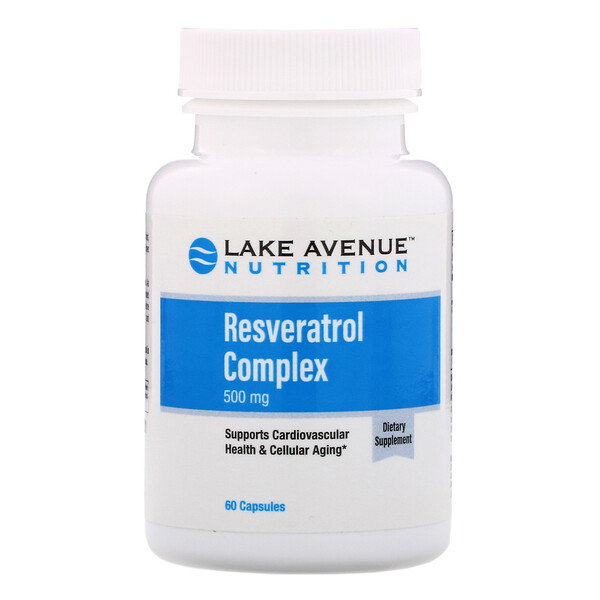 Lake Avenue Nutrition Resveratrol Complex 500 Mg 60 Capsules