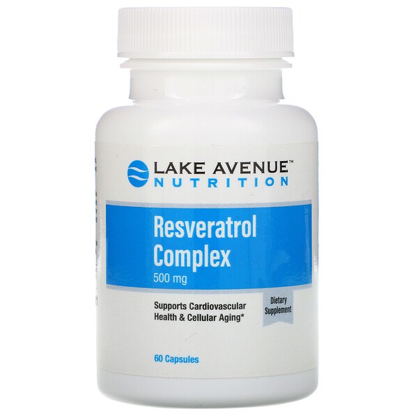 Lake Avenue Nutrition, Resveratrol Complex, 500 mg, 60  Capsules