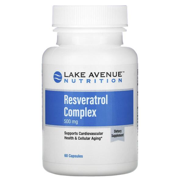 Lake Avenue Nutrition, Complejo de resveratrol, 500mg, 60cápsulas