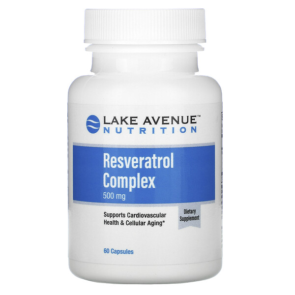 Lake Avenue Nutrition, Resveratrol Complex, 500 mg, 60  Capsules