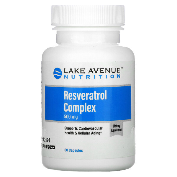 Resveratrol Complex, 500 mg, 60 Capsules