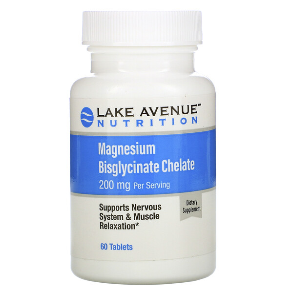 Magnesium Bisglycinate Chelate, 200 mg, 60 Tablets