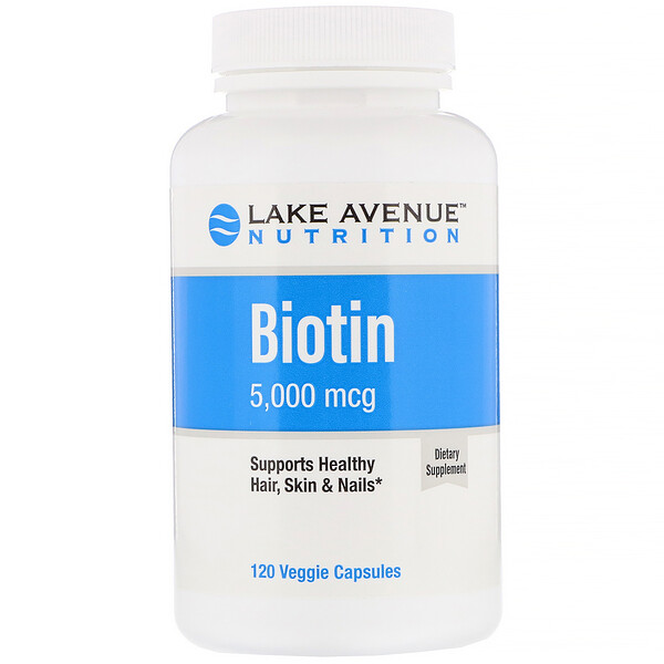 Lake Avenue Nutrition, Biotin, 5,000 mcg, 120 Veggie Capsules
