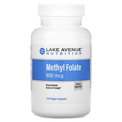 Lake Avenue Nutrition, 메틸 엽산, 800mcg, 베지 캡슐 120정