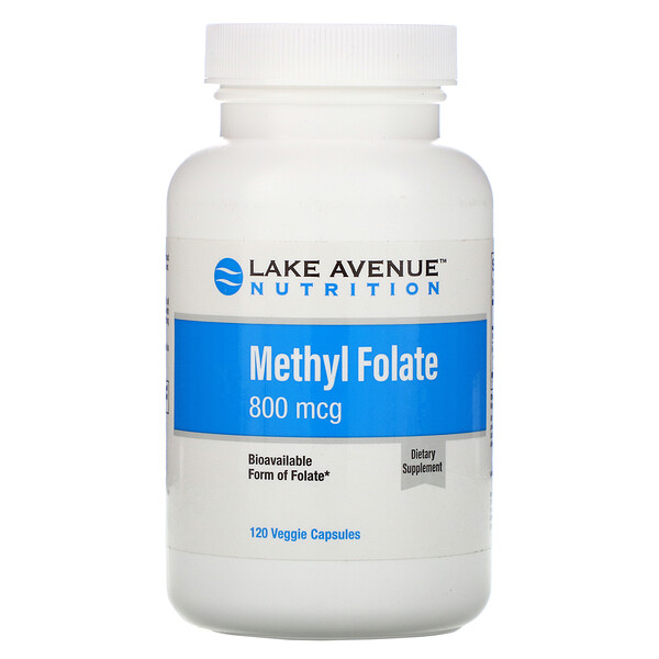 Methyl Folate, 800 mcg, 120 Veggie Capsules