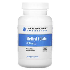 Lake Avenue Nutrition, Methyl Folate, 800 mcg, 120 Veggie Capsules отзывы покупателей