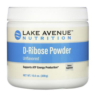 Купить Lake Avenue Nutrition порошок D-рибозы, без добавок, 300г (10, 6унции)