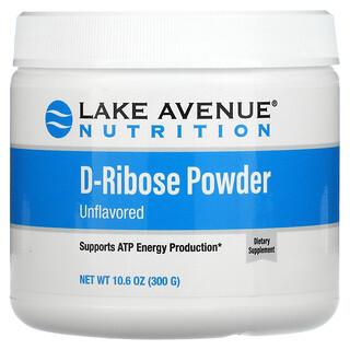 Lake Avenue Nutrition, D-Ribose Powder, D-Ribose-Pulver, geschmacksneutral, 300g (10,6oz.)