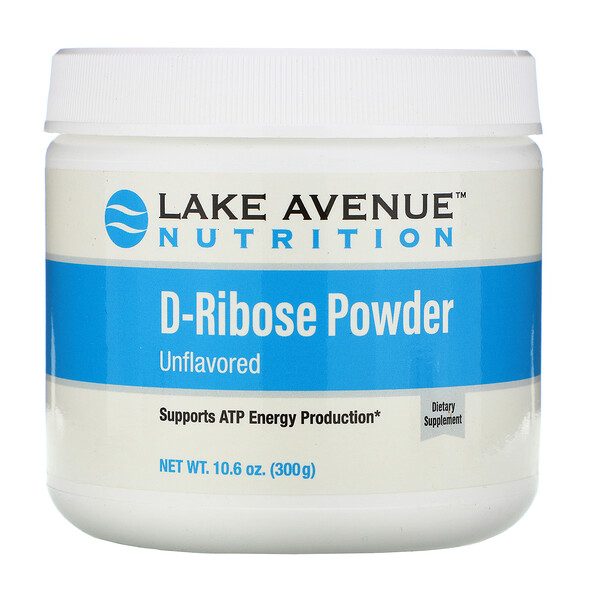D-Ribose Powder, Unflavored, 10.6 oz (300 g)