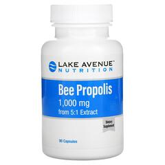 Lake Avenue Nutrition, пчелиный прополис, экстракт 5:1, эквивалент 1000мг, 90растительных капсул