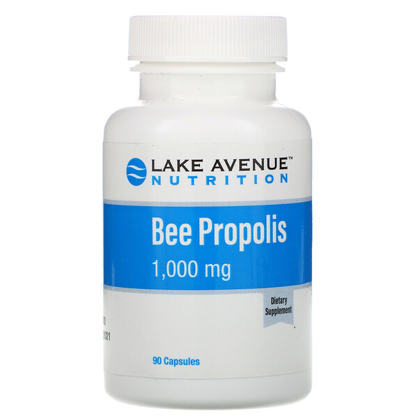 蜂膠,5:1 提取物,相當於 1,000 毫克,90 粒素食膠囊