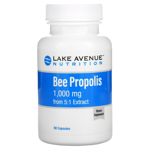 Bee Propolis, 5:1 Extract, Equivalent to 1,000 mg, 90 Capsules