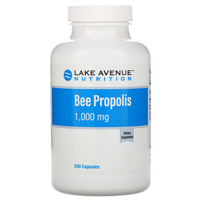 Купить Lake Avenue Nutrition Прополис, экстракт 5:1, эквивалент 1000 мг, 240 растительных капсул