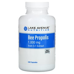 Lake Avenue Nutrition, Bee Propolis, 5:1 Extract, Equivalent to 1,000 mg, 240 Capsules