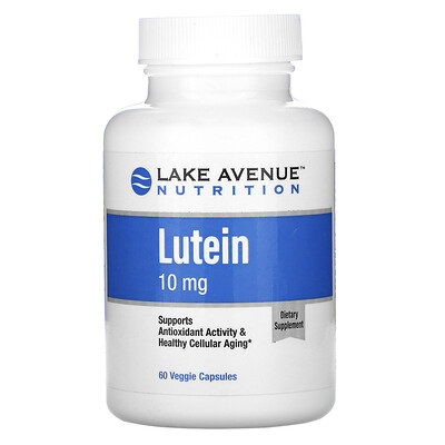 Lake Avenue Nutrition Лютеин, 10мг, 60растительных капсул