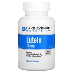 Lake Avenue Nutrition, 叶黄素,10 毫克,60 素食胶囊