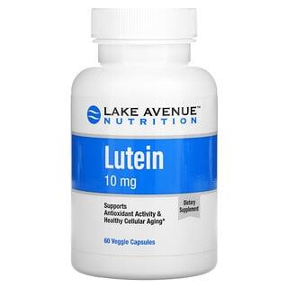 Lake Avenue Nutrition, Лютеин, 10мг, 60растительных капсул