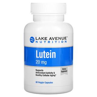 Lake Avenue Nutrition, лютеин, 20мг, 60растительных капсул