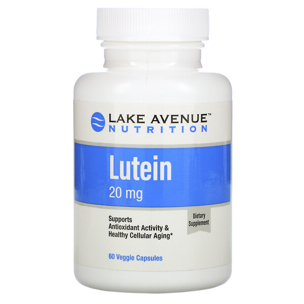 Lake Avenue Nutrition, Lutein, 20 mg, 60 Veggie Capsules
