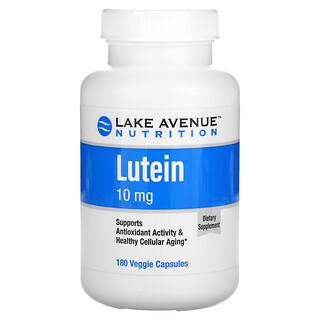 Lake Avenue Nutrition, лютеин, 10мг, 180растительных капсул