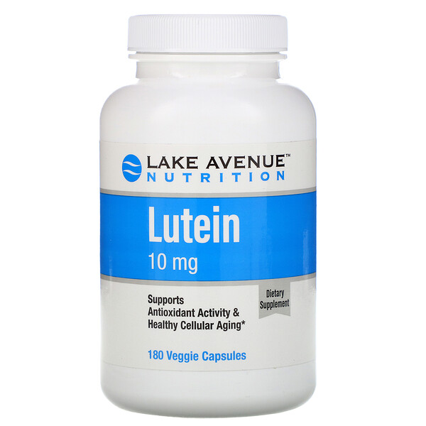 Lake Avenue Nutrition, Lutein, 10 mg, 180 Veggie Capsules