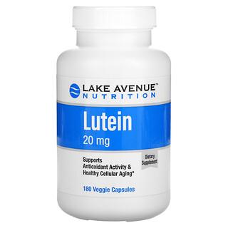Lake Avenue Nutrition, лютеин, 20мг, 180растительных капсул