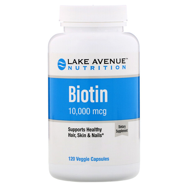 Lake Avenue Nutrition, Biotin, 10,000 mcg, 120 Veggie Capsules