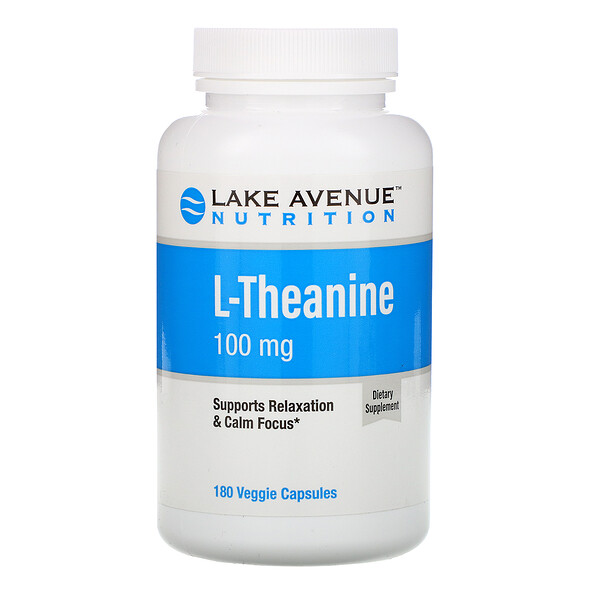 Lake Avenue Nutrition, L-teanina, 100 mg, 180 cápsulas vegetales