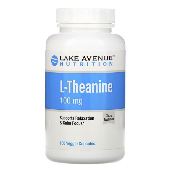 L-Theanine, 100 mg, 180 Veggie Capsules