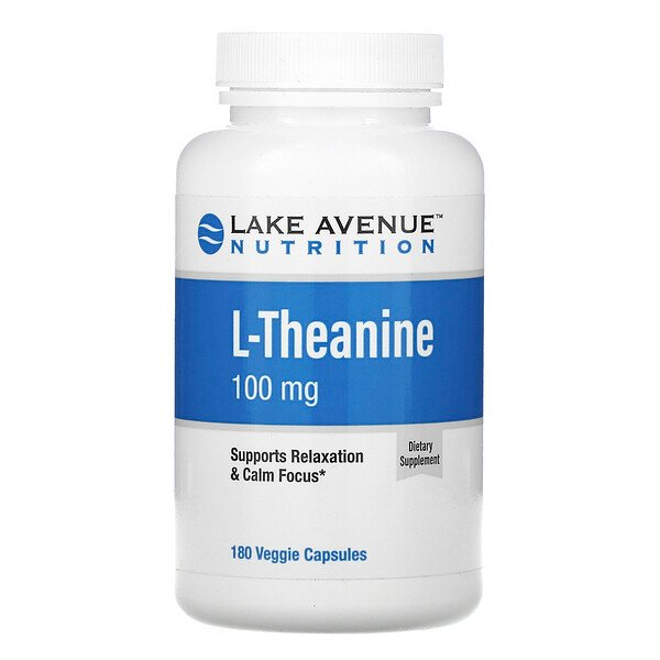 L-Theanine, 100 mg, 180 Veggie Capsules