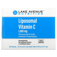 Lake Avenue Nutrition, 脂質性維生素 C,無香,1,000 毫克,30 包,每包 0.2 盎司(5.7 毫升)