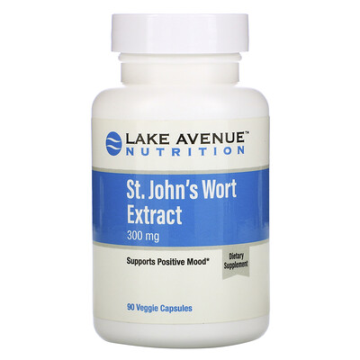 Купить Lake Avenue Nutrition Экстракт зверобоя, 300мг, 90растительных капсул