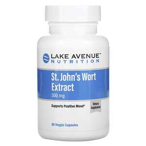 Lake Avenue Nutrition, St. John's Wort Extract, 300 mg, 90 Veggie Capsules отзывы